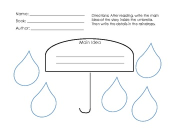 Main Idea and Details Graphic Organizer {Freebie}