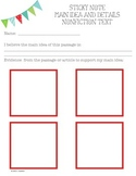 Main Idea and Details Graphic Organizer - Nonfiction