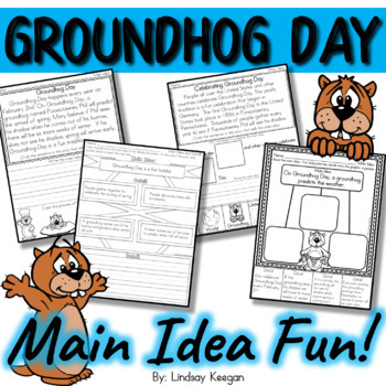 Groundhog Day - Main Idea and Details Activities