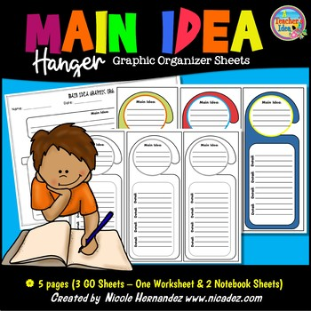 Main Idea and Details Graphic Organizers {Hanger}