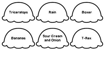 Main Idea and Details Ice Cream Craftivity