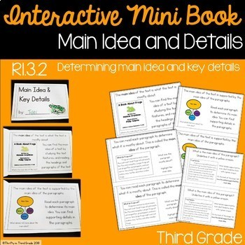 Main Idea and Details Interactive Mini Book {RI.3.2}