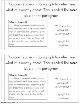 Main Idea and Details Interactive Mini Book {RI.4.2}