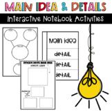 Main Idea and Details Interactive Notebook Activities