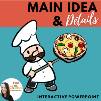 Main Idea and Details Interactive PowerPoint and Worksheet