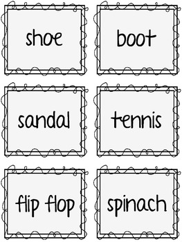 Main Idea and Details K-2 - Sorting Game