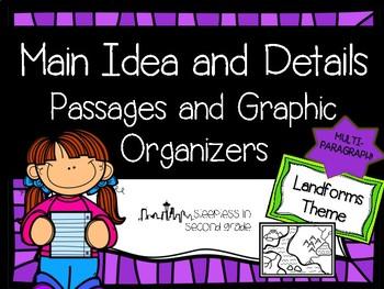 Main Idea and Details Landforms Passage