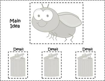 Main Idea and Details Learning Center - Bugs Nonfiction theme