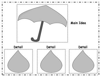Main Idea and Details Learning Center - Weather Nonfiction theme