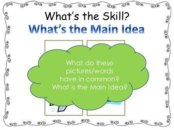 Main Idea and Details Lesson