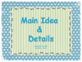 Main Idea and Details Lesson