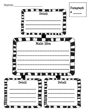 Main Idea and Details Literacy Center (w/ graphic organizer) - Print & Go!