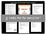 Main Idea and Details Mini Lessons