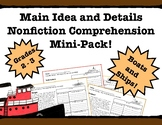 Main Idea and Details Nonfiction Comprehension- Leveled! Boats and Ships!!