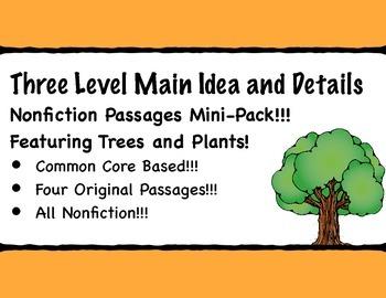 Main Idea and Details Nonfiction Comprehension Passages
