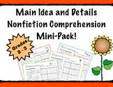 Main Idea and Details Nonfiction PRACTICE & PROGRESS MONITORING