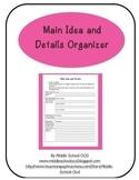 Main Idea and Details Organizer