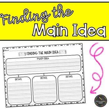 Main Idea and Details Organizer FREEBIE