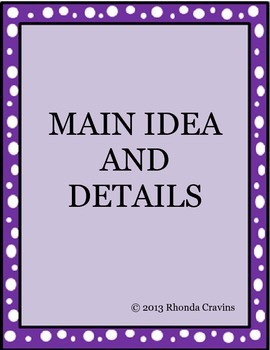 Main Idea and Details Pack
