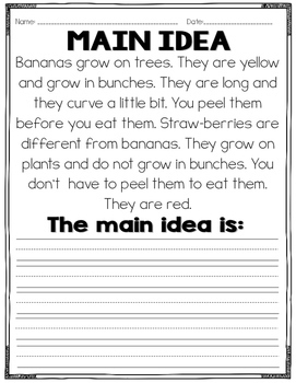 math worksheet : main idea and details practice common core by read like a rock star : Main Idea Multiple Choice Worksheets