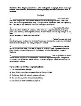 Main Idea and Details Quiz
