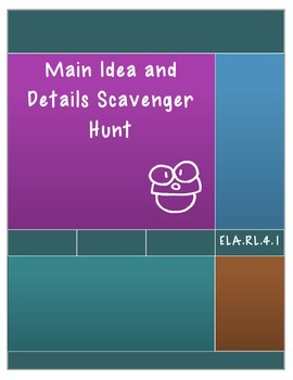 Main Idea and Details Scavenger Hunt