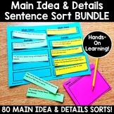 Main Idea and Details Sentence Sort BUNDLE {Using Higher O