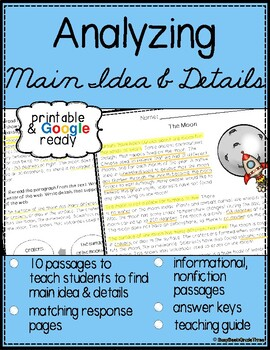 Main Idea and Details Reading Passages with Questions