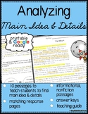 Main Idea & Details Reading Passages & Questions - Printable & Distance Learning