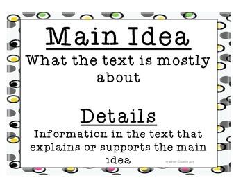 Main Idea and Details Sort
