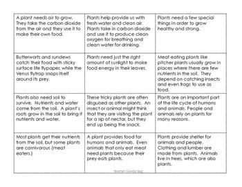 Main Idea and Details Sort Part 2