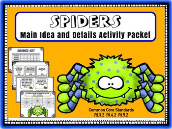 Main Idea and Details:  Spiders