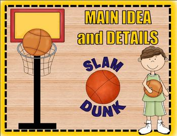 Main Idea and Details Sports Themed Bundle