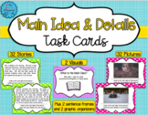 Main Idea and Details Task Cards - Distance Learning