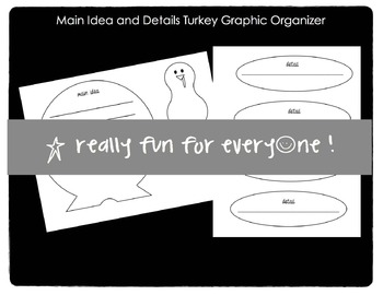 Main Idea and Details Turkey Graphic Organizer