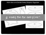 Main Idea and Details Turkey Graphic Organizer