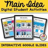 RI.K.2 Main Idea and Details Activities on Interactive Google Slides