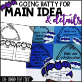 Main Idea and Details {using bats}