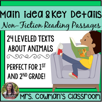 Main Idea and Key Details- Animal Passages and Graphic Organizers