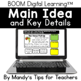 Main Idea and Key Details: Boom Digital Learning Cards