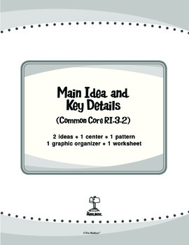 Main Idea and Key Details (Common Core RI.3.2)