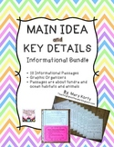 Main Idea and Key Details Informational Bundle- Common Core Aligned