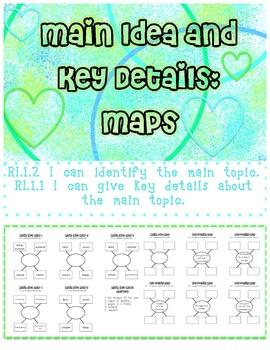 Main Idea and Key Details Maps