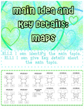 Main Idea and Key Details Maps graphic organizers