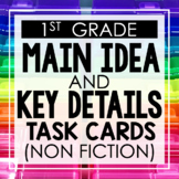 Main Idea and Key Details (Non Fiction) 1st Grade Reading
