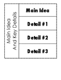 Main Idea and Key Details flap book