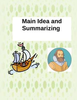 Main Idea and Summarizing