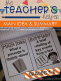 Main Idea and Summary {Teacher's Helper}