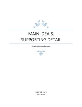 Main Idea and Supporting Detail- Dogs