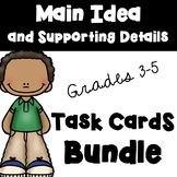 Main Idea and Supporting Detail Task Cards (QR Codes)  BUNDLE